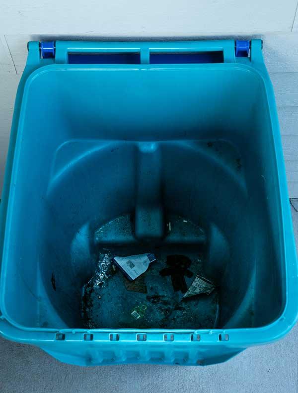 Dirty Trash Bin